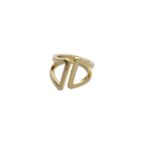 Thick two layers Gold Ring