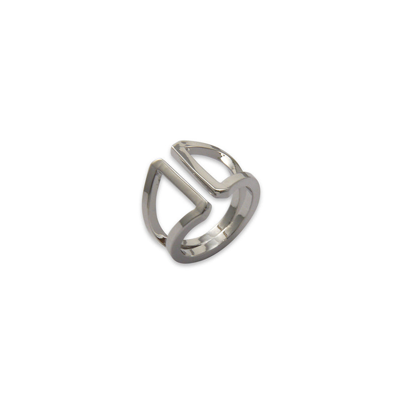 Thick two layers Silver Ring