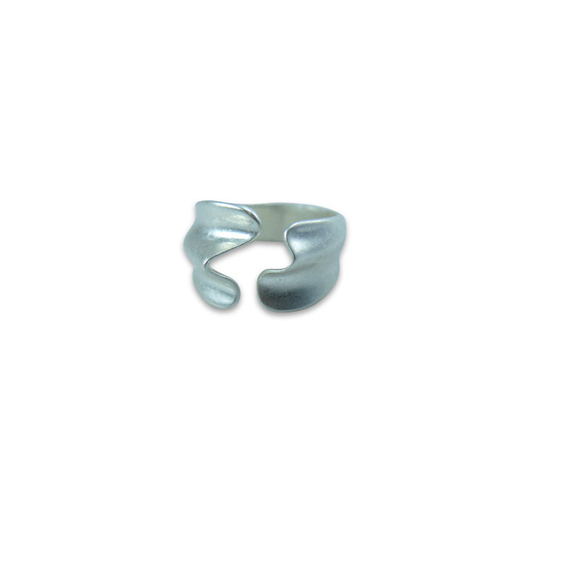 3D Wave Silver Ring