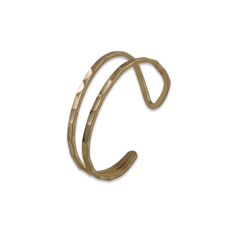 Cutout Big Circle Gold Bracelet