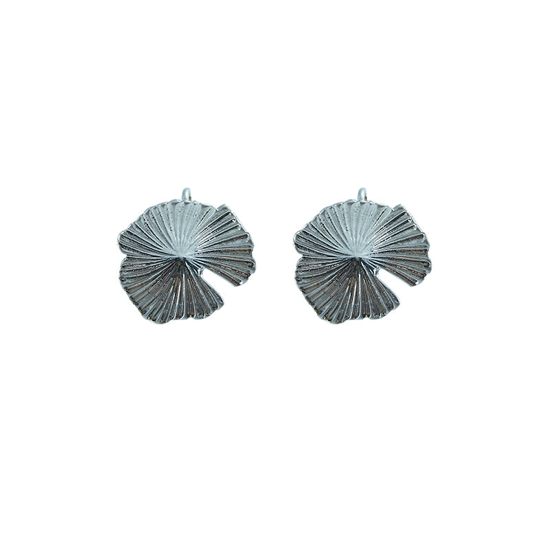 Lotus leaves Silver ear Clip Earrings
