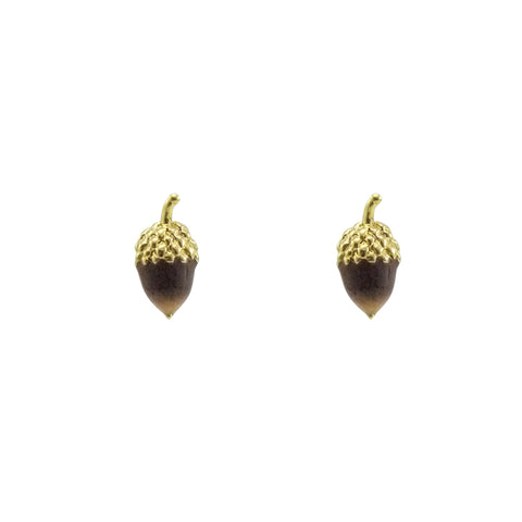 Hazelnut Dark Brown Studs