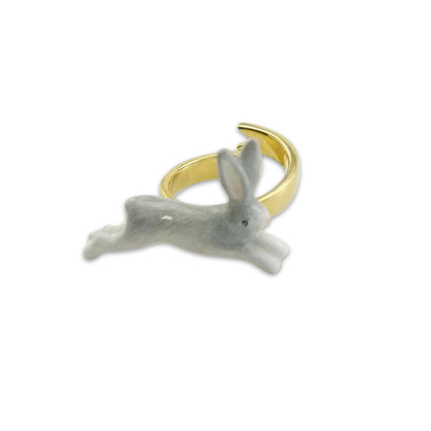 Running Rabbit Grey Ring