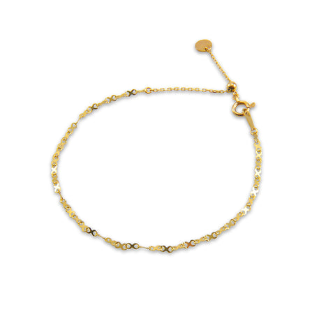 xoxo Kiss 10K Real Gold Bracelet