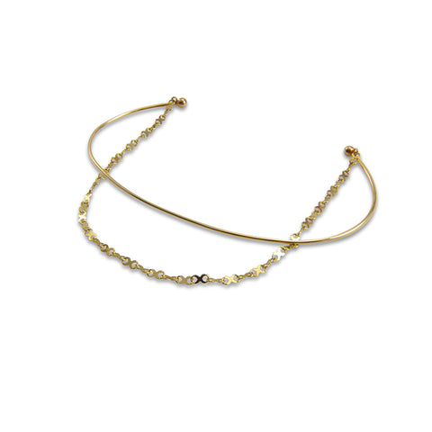 xoxo Kiss Chain 10K Real Gold Bangle