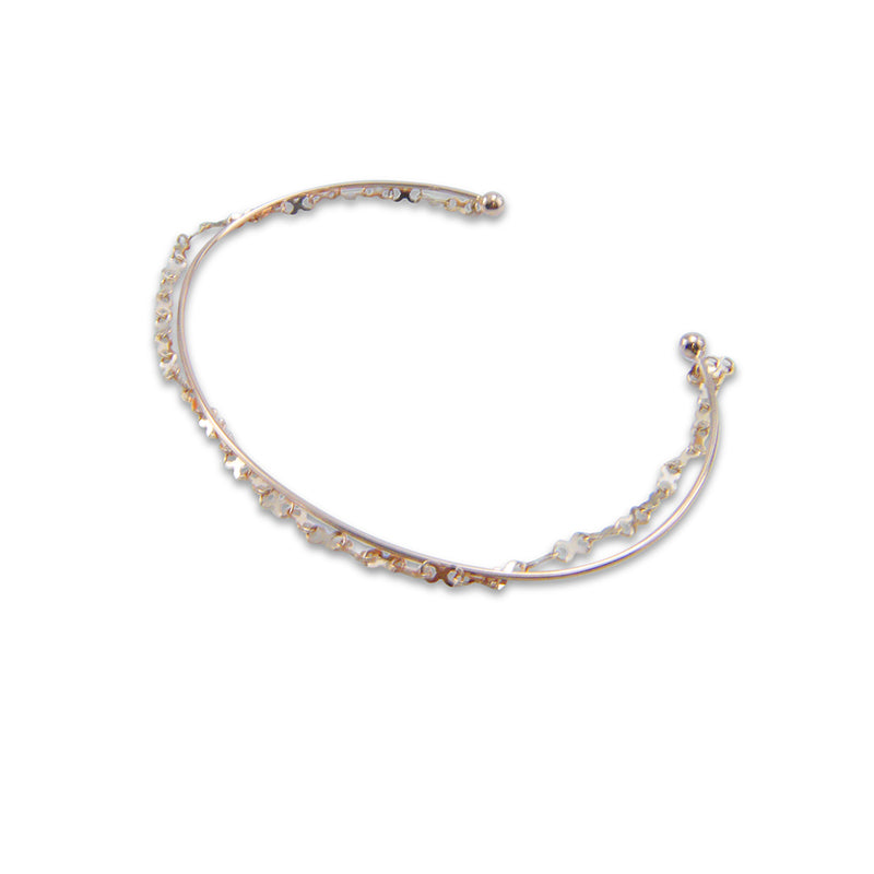 xoxo Kiss Chain 10K Real Rose Gold Bangle