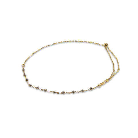 Loose 10 White Gold Bead 10K Real Gold Bracelet