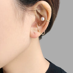 Mini 3 with Ayuka Pearl 10K real gold clip earrings (one piece)