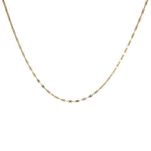 xoxo Kiss 10K Real Gold Short Necklace