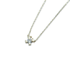 Quartet Secret Heart with Diamond (0.05ct) 10K Real Gold Necklace