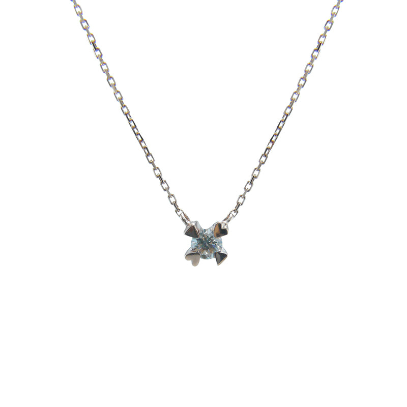 Quartet Secret Heart with Diamond (0.05ct) 10K Real Rose Gold Necklace