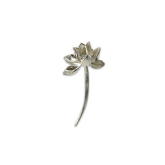 Lotus Sterling Sliver Brooch
