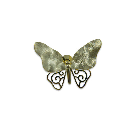 Butterfly Gold Sterling Sliver Brooch