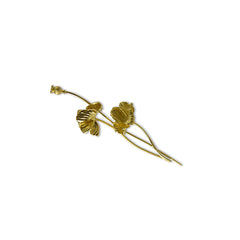 Branch flower Gold Sterling Sliver Brooch