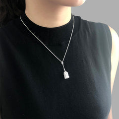 Birdcage Sterling Sliver Short Necklace