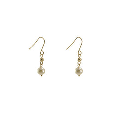 Akuya Pearl 18k real Gold short Pull-Thru Earrings