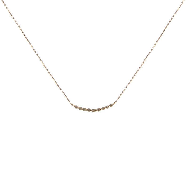 0.1K Diamond With 18k Rose Gold Necklace