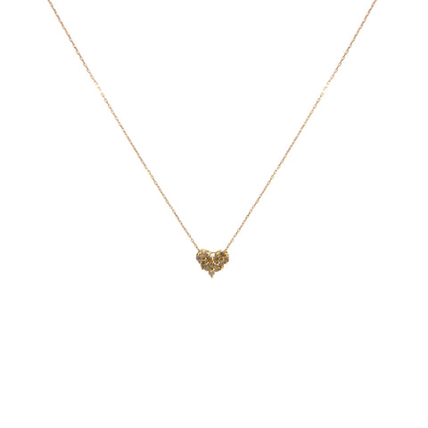 0.2Kt Diamond Heart and Bar 18k Real Gold Necklace