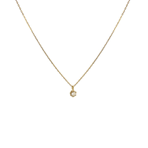 0.1Kt Diamond With 18k real Gold Necklace