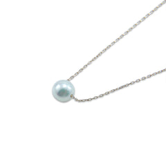 Big 7mm Ayuka Pearl 10K Real Gold Necklace