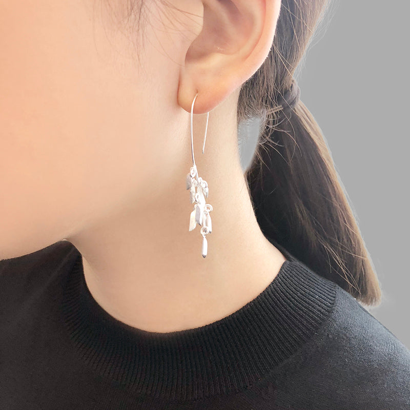 Branch with little stones Sterling Silver Earrings