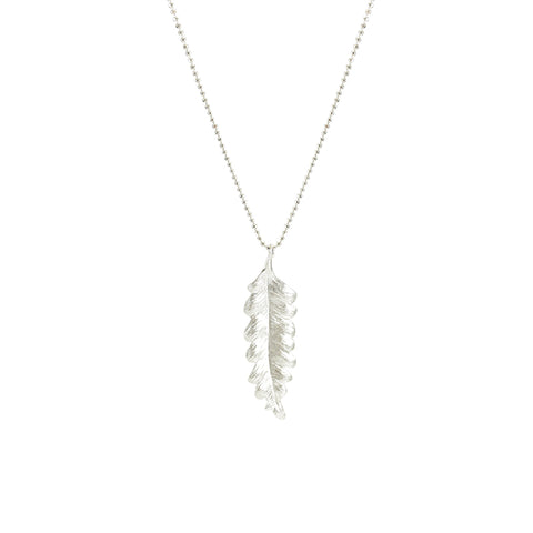 Undalate Sterling Long Sliver Necklace