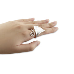 Ginkgo Sterling Silver Ring