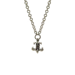 Fleur-De-Lys Sterling Silver Necklace Chain (24 inches)