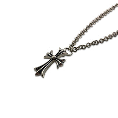 Goffic Cross Patonce Sterling Silver Necklace (24 Inches)