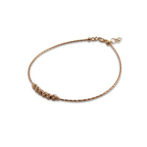 Luminous 18k Real Rose Gold Bracelet