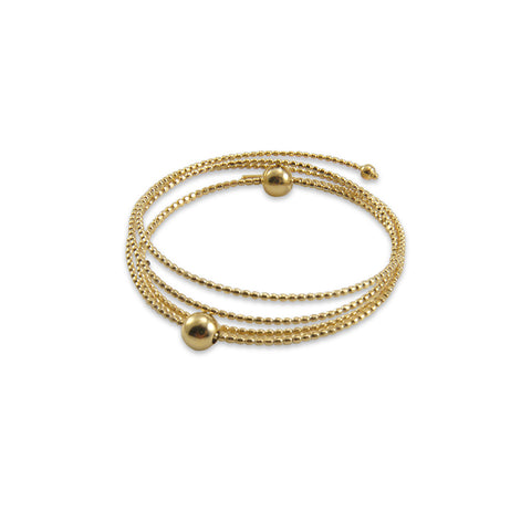 Wire 18K Real Gold Bangle