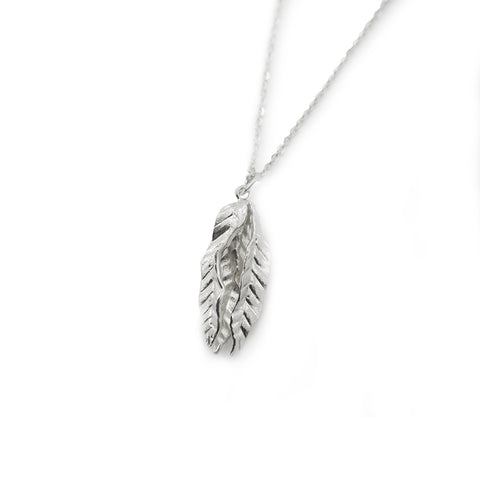 Trio Undalate Sterling Silver Medium Length Necklace
