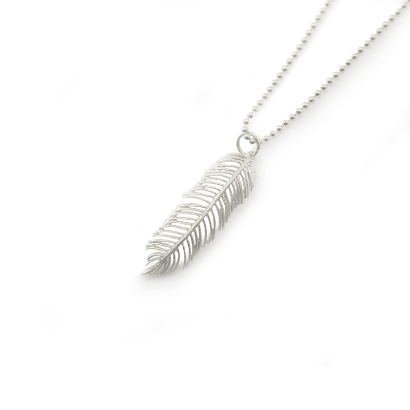 Fern Leaf Sterling Silver Medium Length Necklace