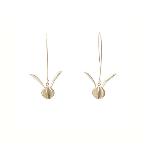 Flying Flower Sterling Silver Earrings