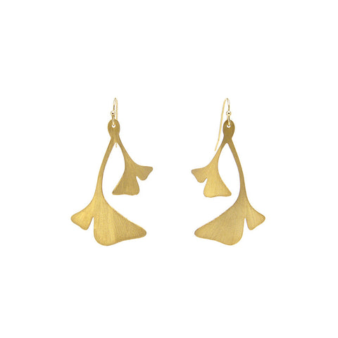 Ginkgo Gold Earrings