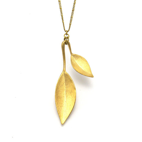 Magnolia Gold Long Necklace