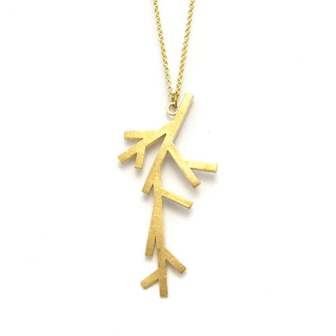 Branch Gold Long Necklace