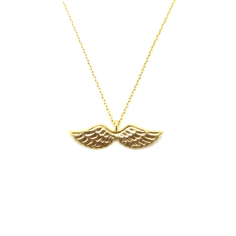 Eagle Wings Short Gold Necklace