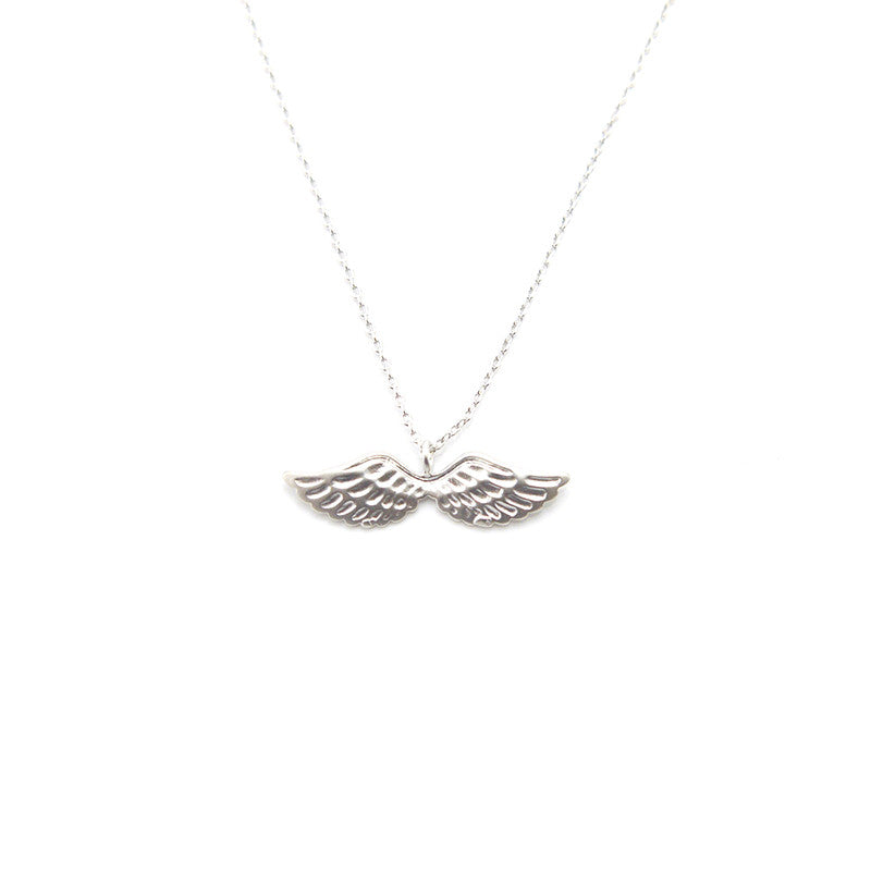 Eagle Wings Short Silver Necklace