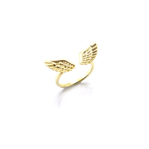 Eagle Wings Gold Ring