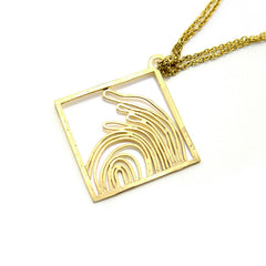 Evidence Long Gold Necklace
