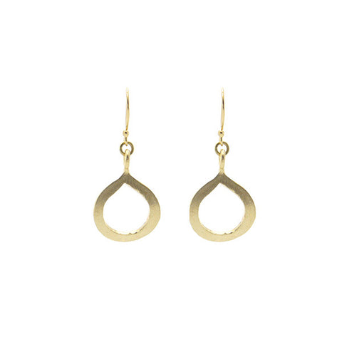 Half Infinity Gold Earrings