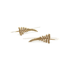 Fern Leaf Rose Gold Earrings