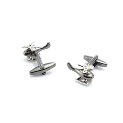 Helicopter Black Cufflinks