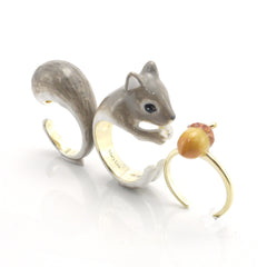 Squirrel Grey Triple Ring Set