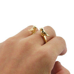 Lover Bird Gold Ring