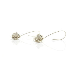 Roses Sterling Silver Earrings