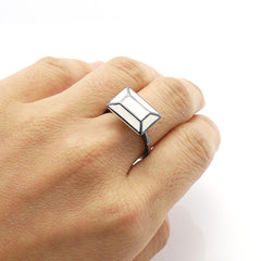 Rectangle Window White Ring