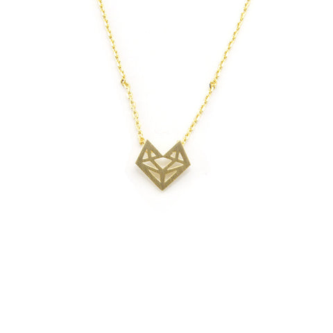 Fox Gold Short Necklace