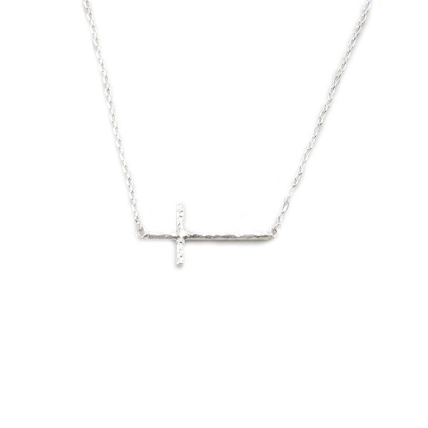 Cross Silver Short Necklace